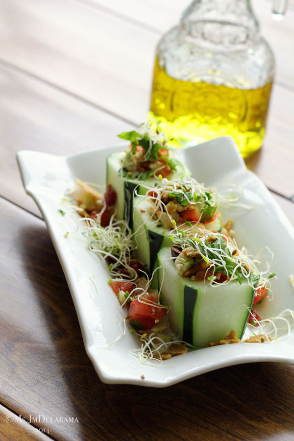 Mediterranean Couscous in Cucumber Cups