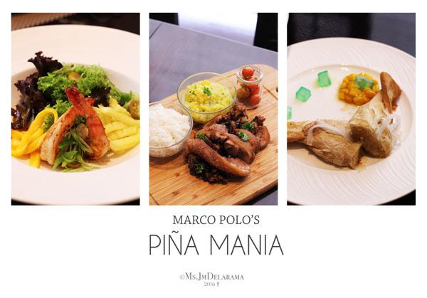 pina mania set menu at marco polo ortigas manila