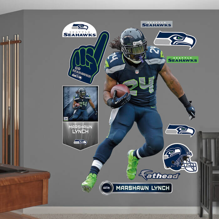 Marshawn Lynch - Seattle Seahawks Fan Gear and Memorabilia