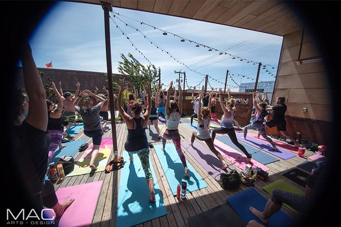 yo yo yoga monkey loft deck seattle yoga dance party