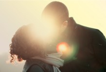 companionship love yoga kissing couple