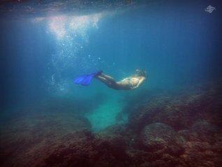 Renee Blundon at a Reef off Cost of Mbudya Island 1024 x 768