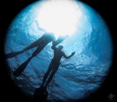 Kevin and Rob waiting at the surface