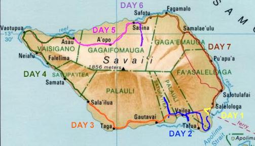 map savaii