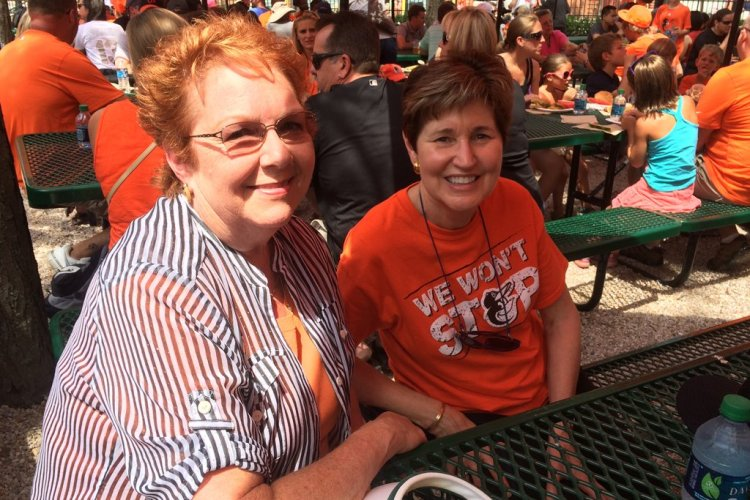 Janet & Marjorie at the O's game