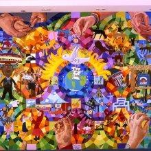 Colorful collage showing hospitatlity
