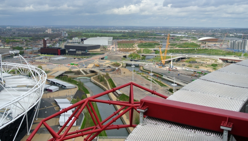 view over olympic park in london