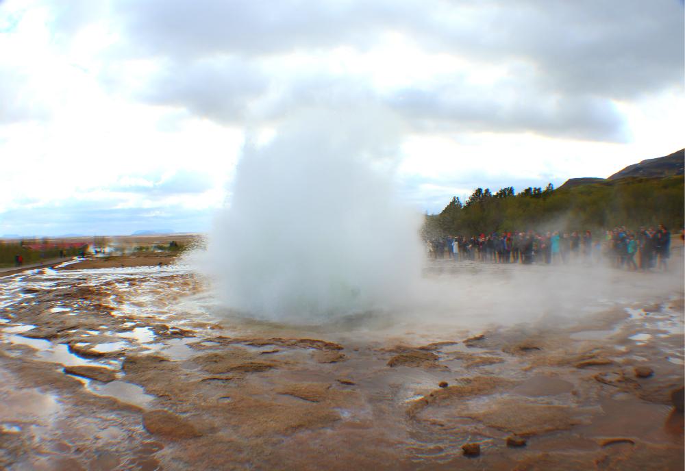 strokkur geyser in Iceland