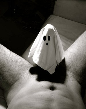 his ghost costume