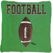 Football Indoor/Outdoor Throw Pillow