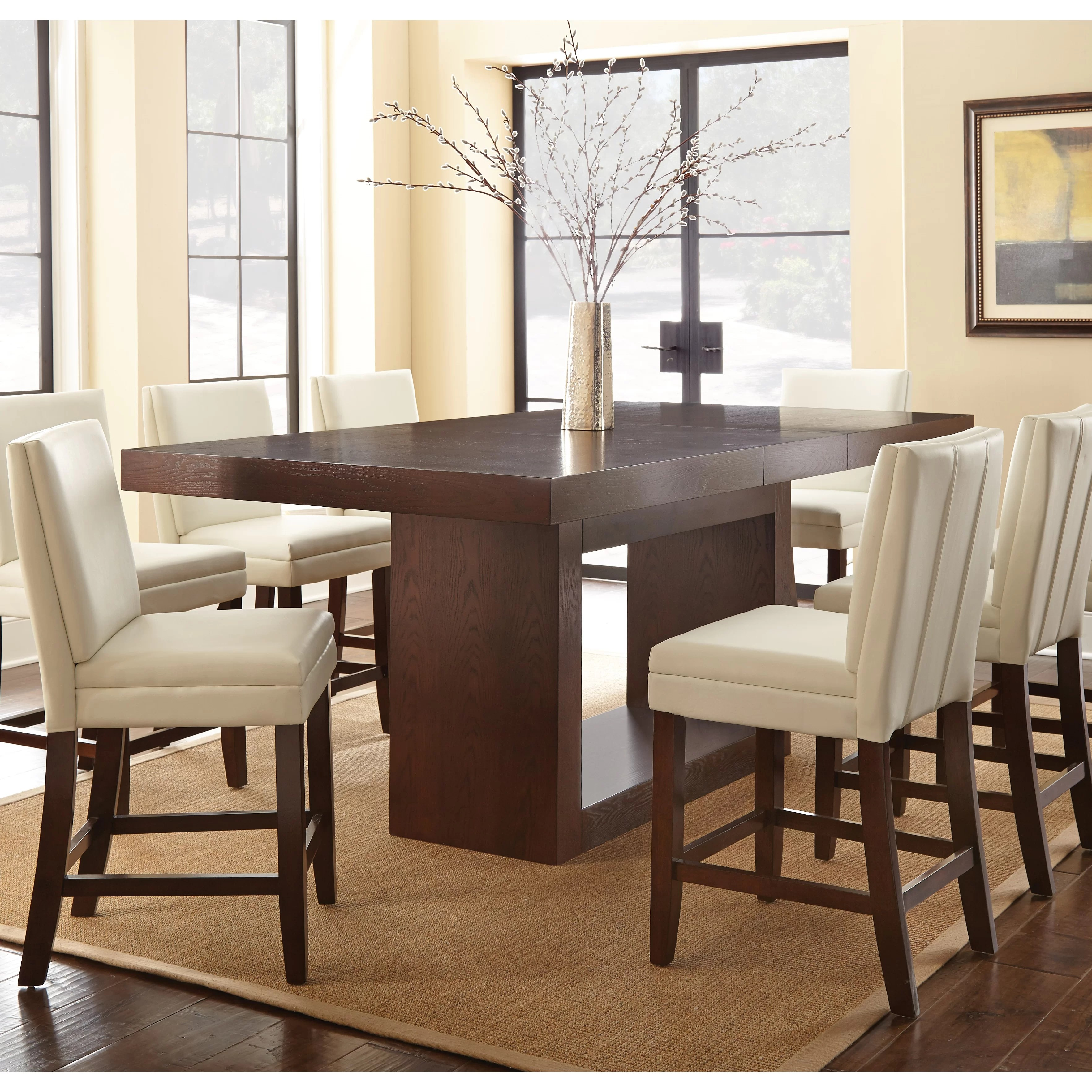 8 seat dining kitchen tables c a~ bar height kitchen table Antonio Counter Height Dining Table
