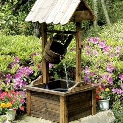 Piersurplus Wood Wishing Well Outdoor Patio Water Fountain Reviews