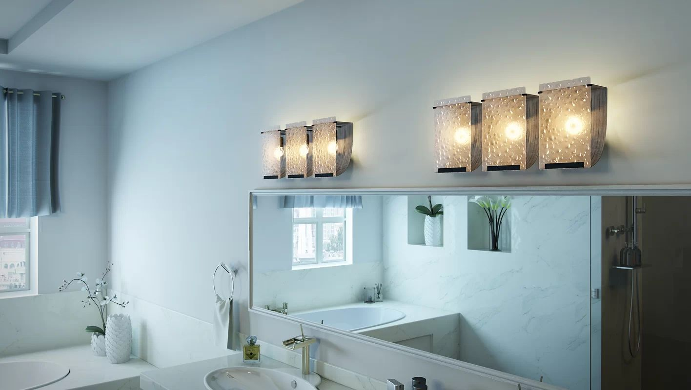bathroom lighting design ideas double light sconces in brushed of 6
