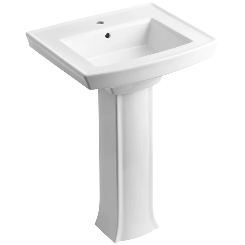 Archer Vitreous China 24inch Pedestal Bathroom Sink