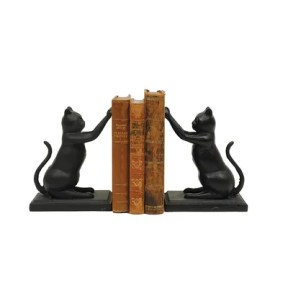 Three Posts Cast Iron Cat Book End