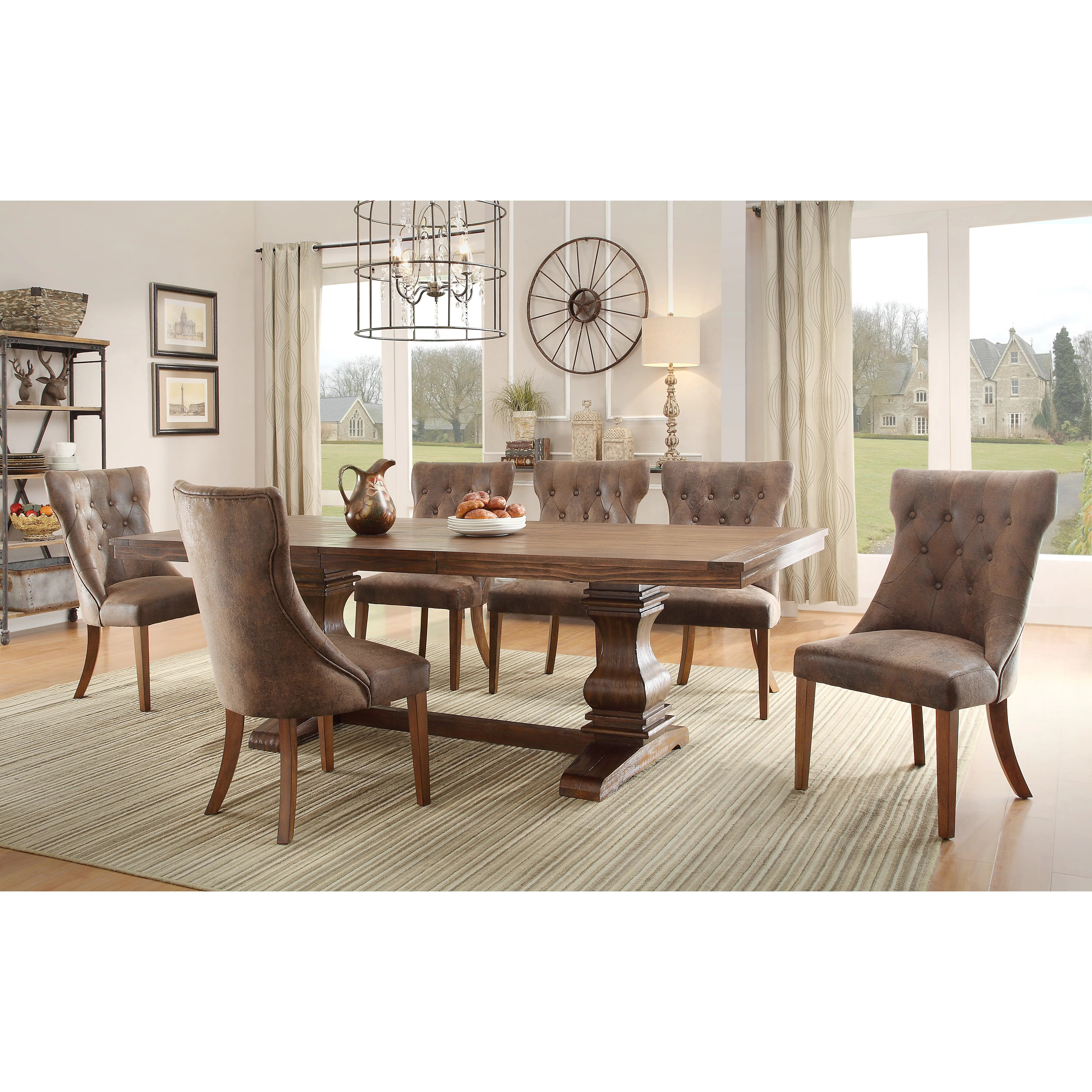 rectangular kitchen dining tables c a~ wayfair kitchen chairs Elton Extendable Dining Table