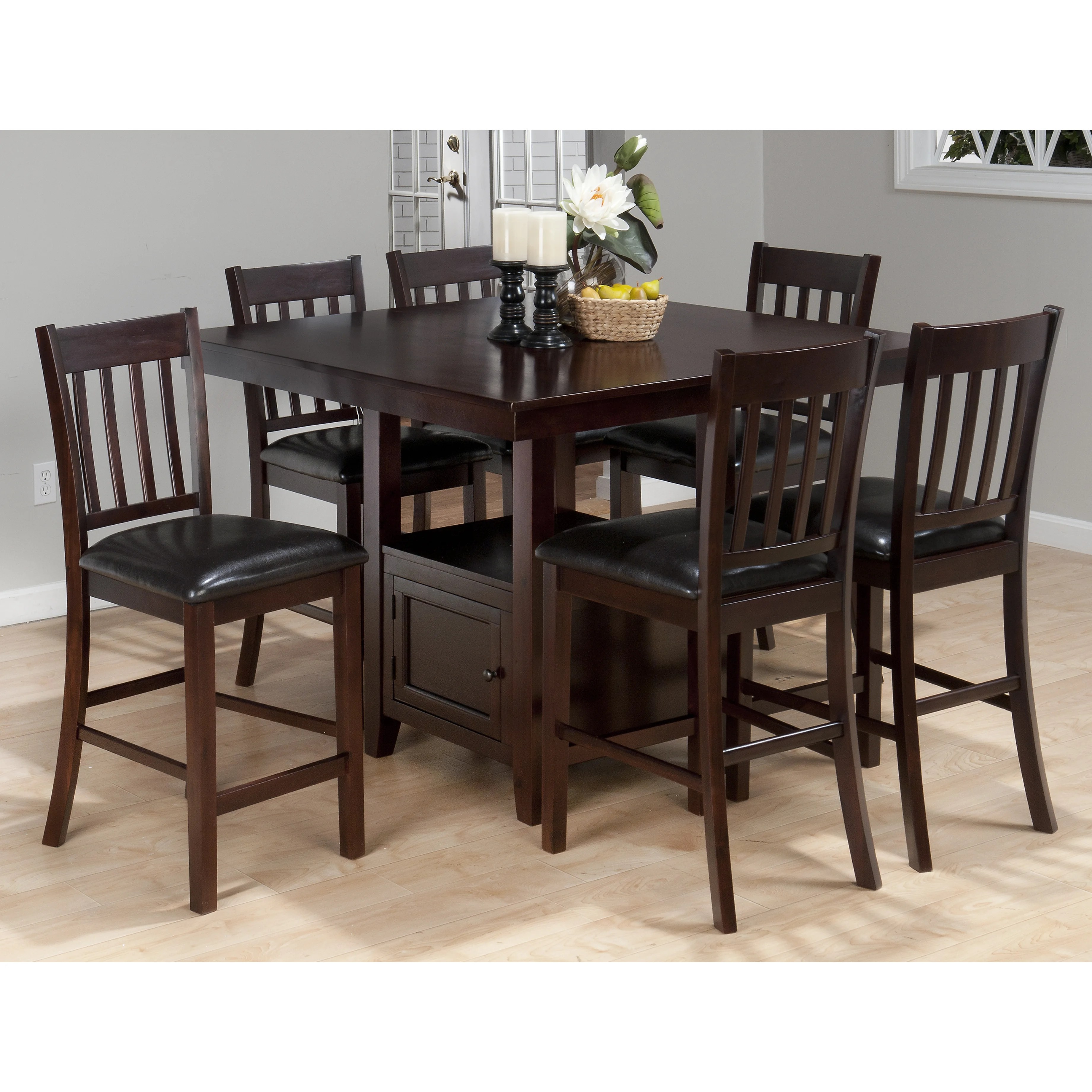 Kitchen and Dining Tables l c O~Pedestal O~Counter+ 5BPO 22 5BD 22+H 5BPC 5D counter height kitchen table QUICK VIEW Oakmeadow Counter Height Dining Table