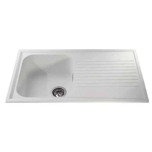 CDA 86 cm x 50 cm Composite Single Bowl Kitchen Sink