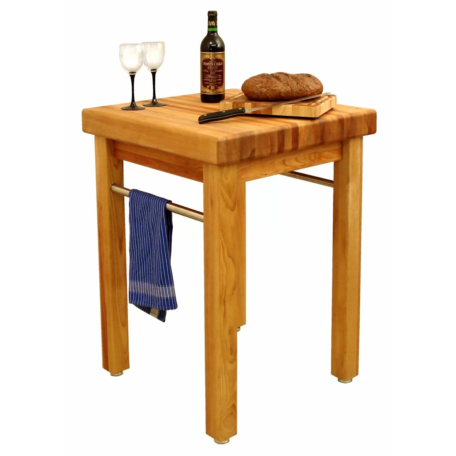 butcher block kitchen islands carts c a~ butcher block kitchen table French Country Prep Table