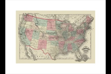 buyenlarge map of the united states territories 1872