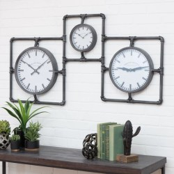 Astounding Diller Industrial 3 Face Wall Clock Industrial Wall Clock Nz Industrial Wall Clock Uk furniture Wall Clock Industrial