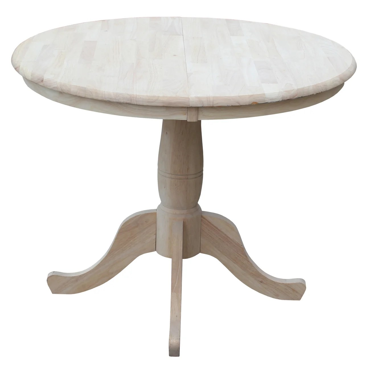 round kitchen dining tables c a~ round pedestal kitchen table Overbay Round Pedestal 30 Extendable Dining Table