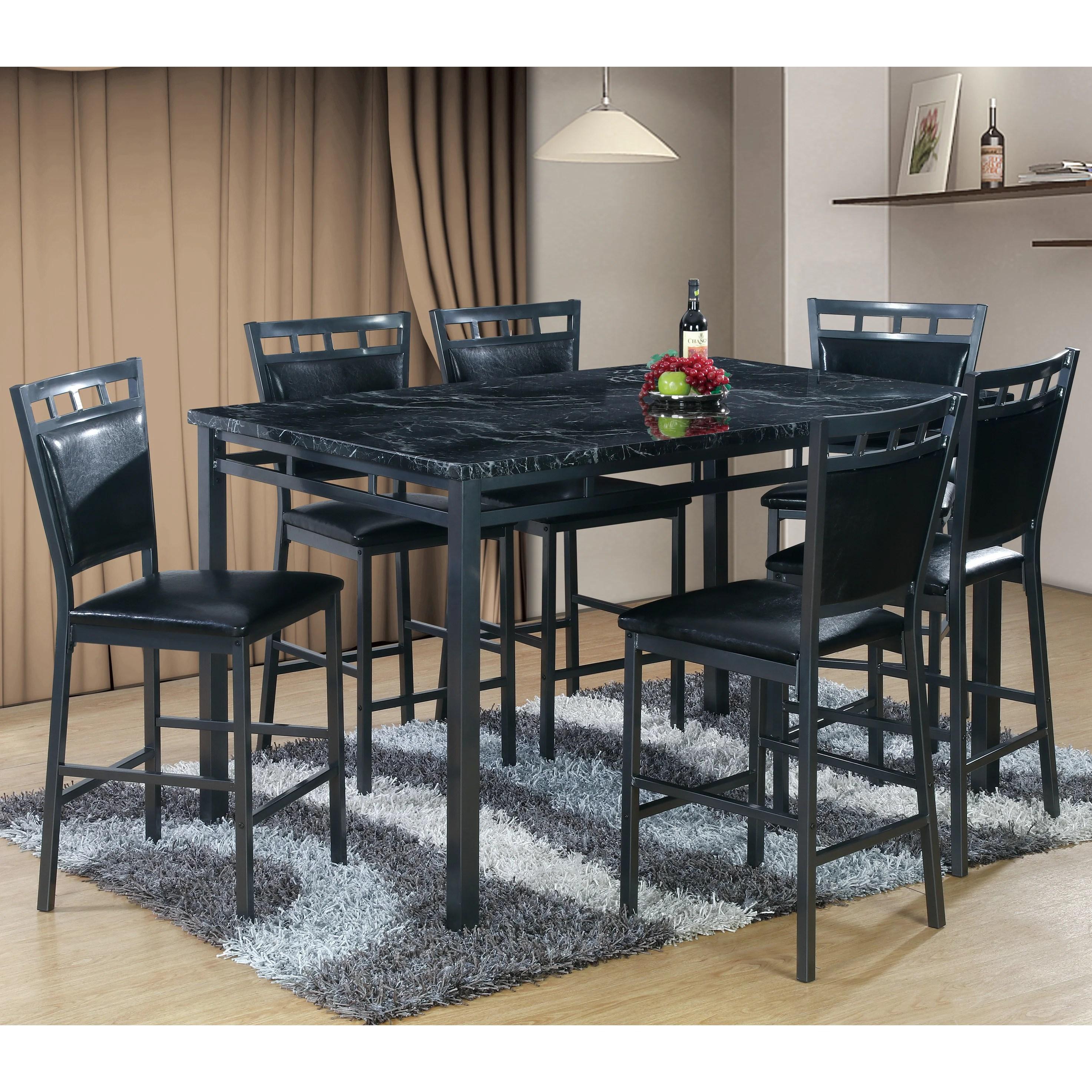7 piece kitchen dining room sets c a~ kitchen table sets 7 Piece Counter Height Dining Table Set