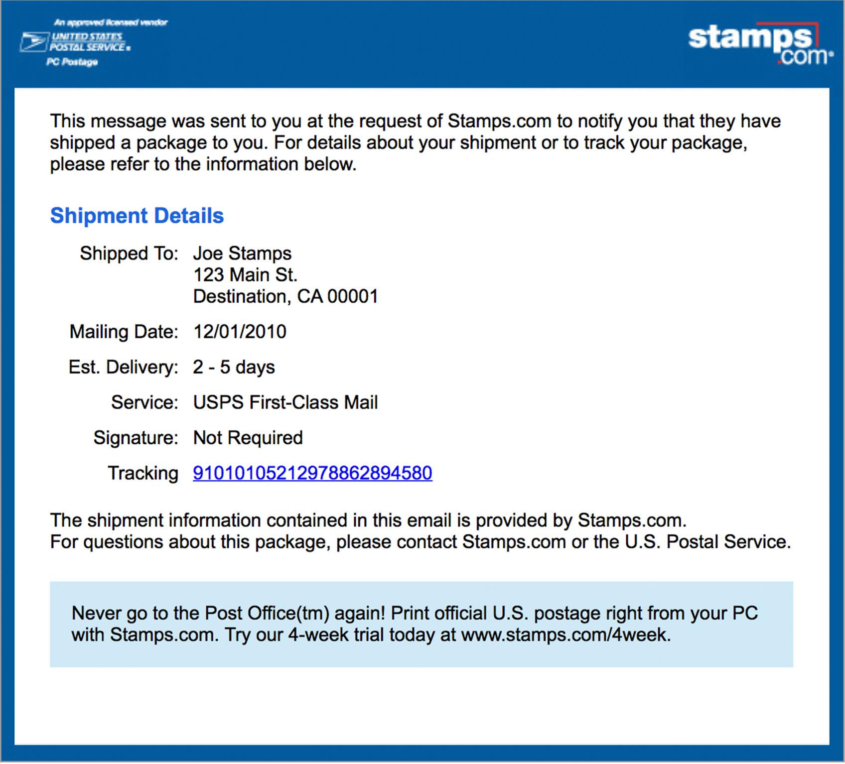 Fullsize Of Pre Shipment Info Sent To Usps