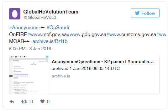 Anonymous opSaudi Saudi arabia