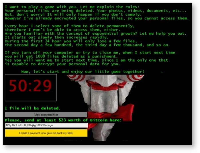 JIGSAW ransomware 2