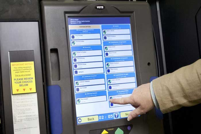 voting ballot machine