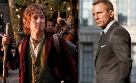 Hobbit huge again, Bond becomes billionaire