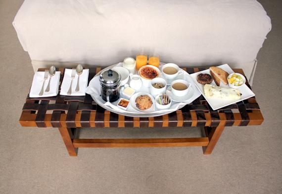 boutique hotel breakfast in bed