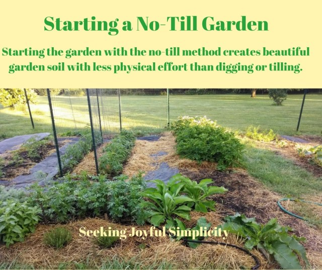 Starting the garden with the no-till method creates beautiful garden soil with less physical effort than digging or tilling.