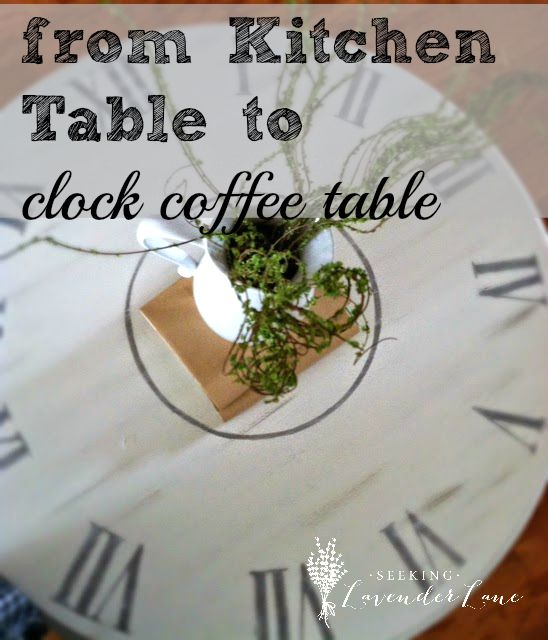 from kitchen table to clock coffee table