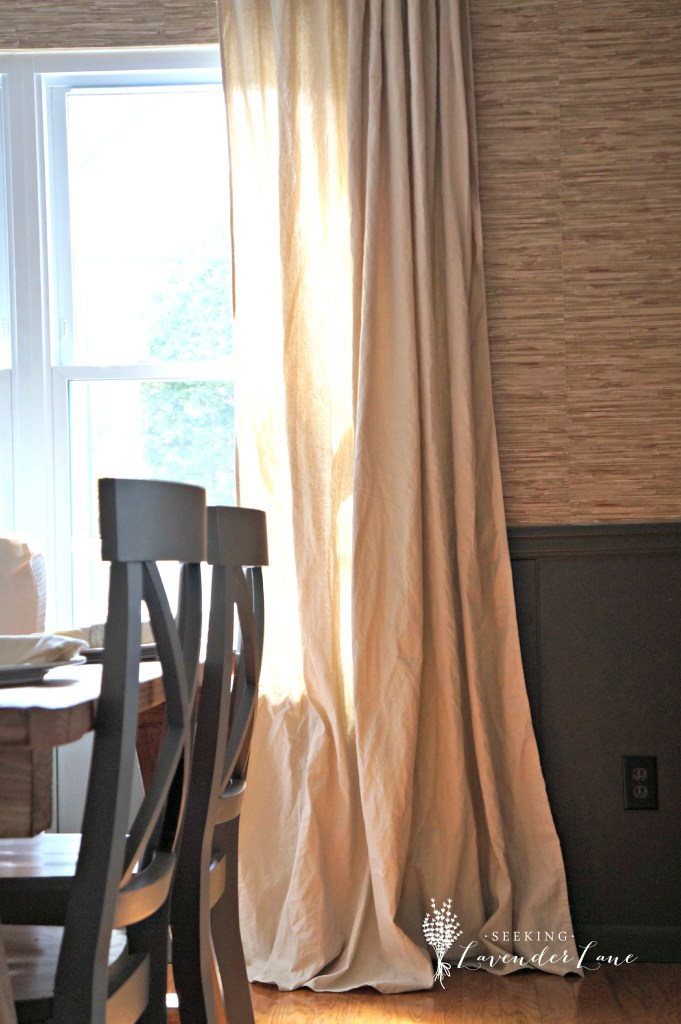 DIY Drop Cloth Drapes 1