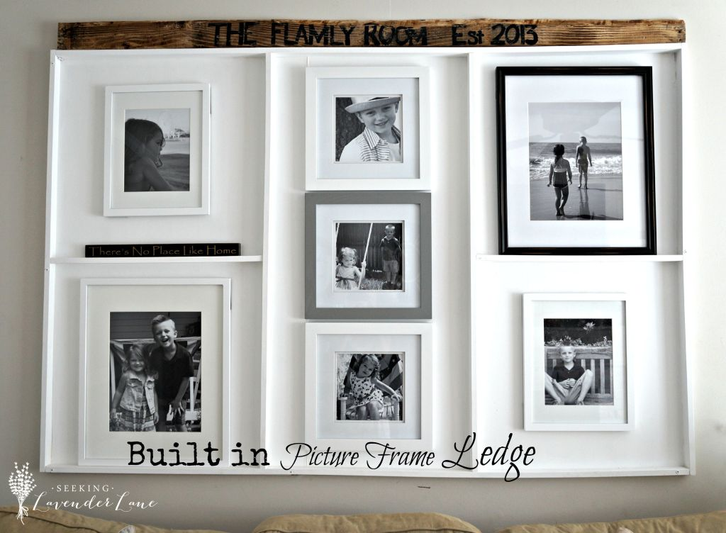 Built in Picture Frame Ledge