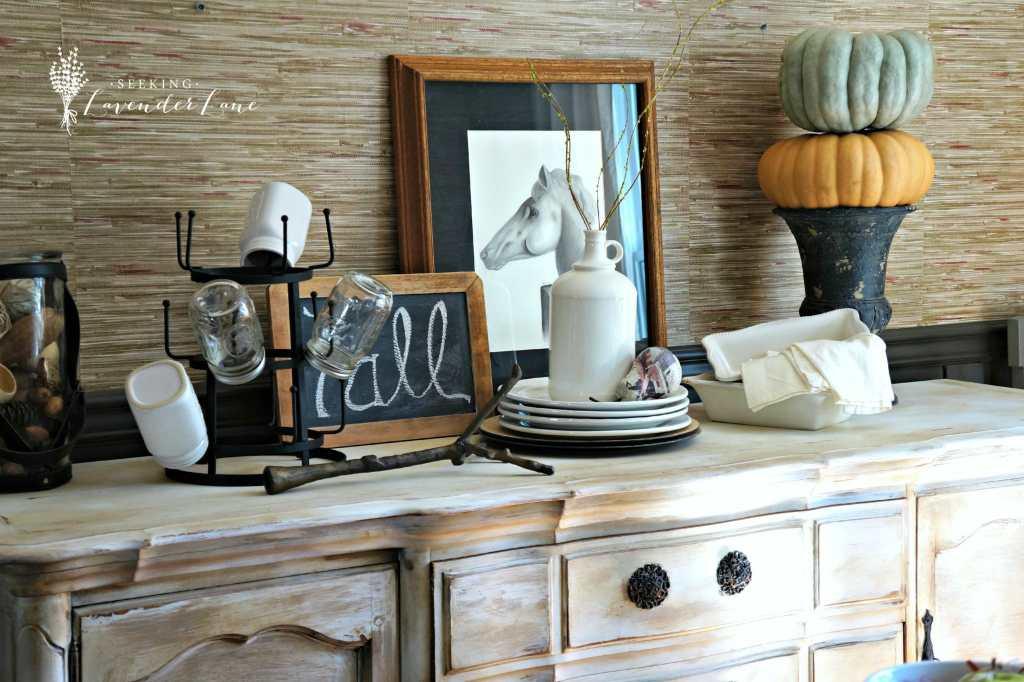 Fall Vignette Dining Room