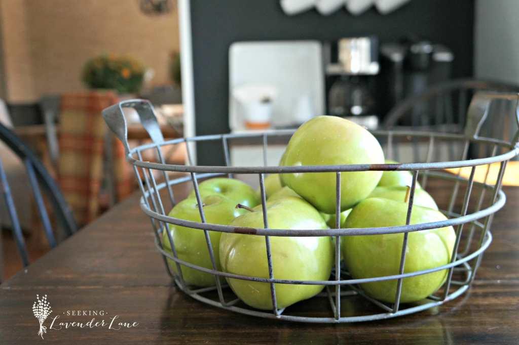 green apples fall decor