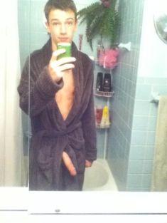 Skinny twink boy taking selfies
