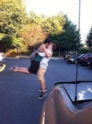 hot gay boyfriends kissing and hugging