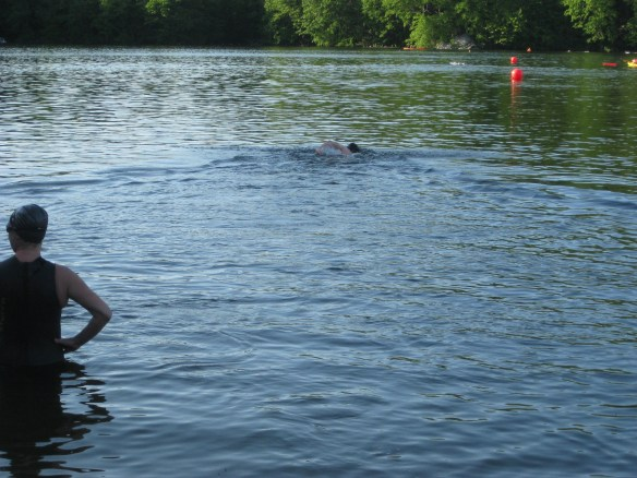 triathlon open water swim panic attack