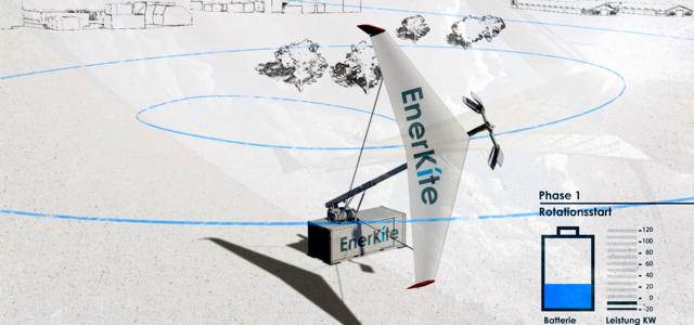 """Modellzeichnung des """"EnerKite""""-Projektes © enerkite"""