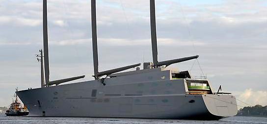 White pearl, Kieler Förde, größte Segelyacht der Welt