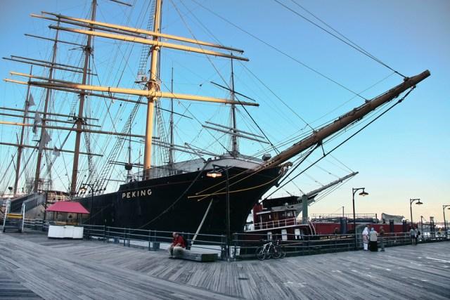 Auf ihrem Liegeplatz in New York.  © Seaport South Museum