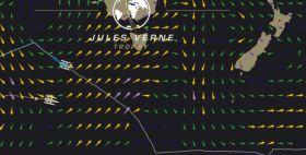 Spindrift liegt auf einem südlicheren Kurs jetzt 70 Meilen vor dem virtuellen Rekordgegner