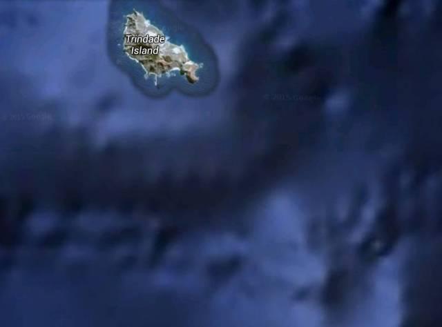 Das google Maps Bild ohne die Nebeninsel.