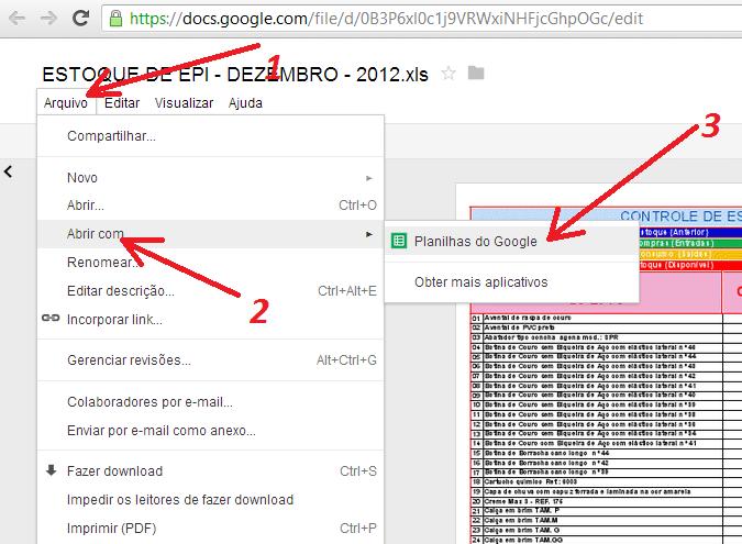 exportar Google Docs