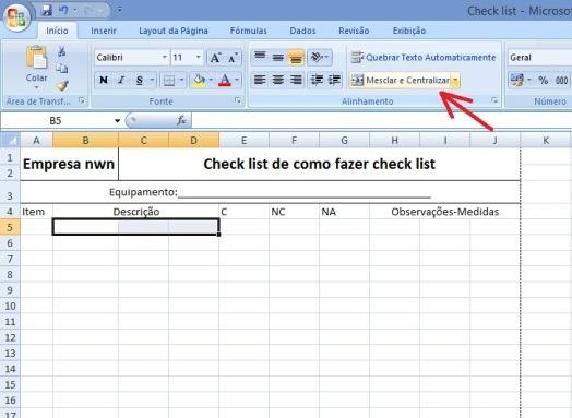 Como fazer Check List3