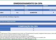 dimensionamento da CIPA